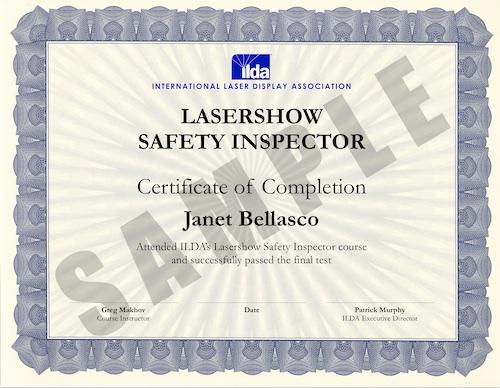Laser safety course information   International Laser Display