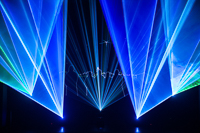 Multi-effect laser show in theater